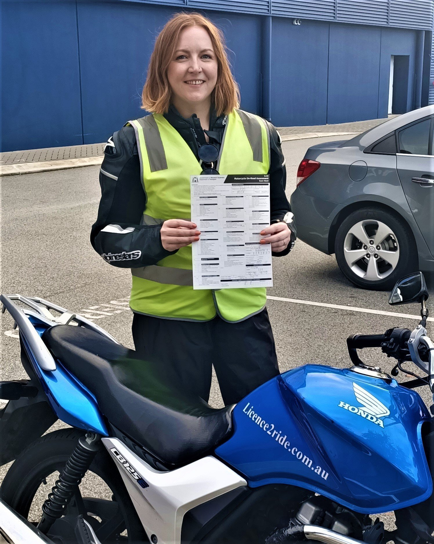 Female Motorcycle Instructor Perth